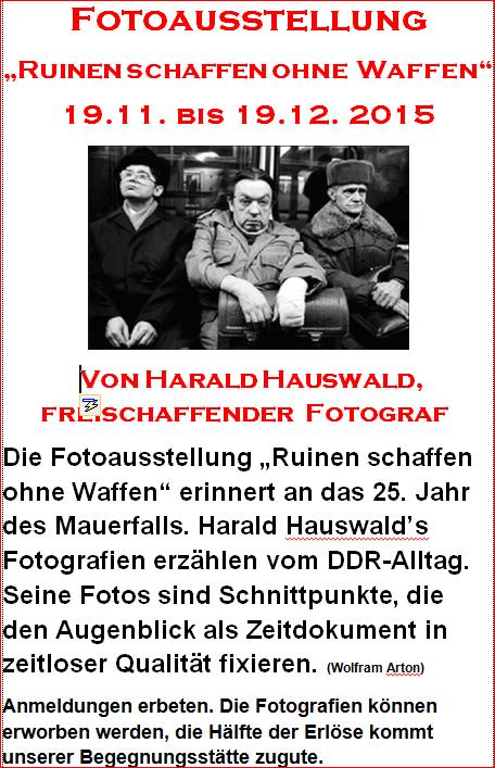 Plakat Hauswald bis Dez.
