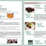 Programm Februar & März 2020 der Begegnungsstätte Stille Stra